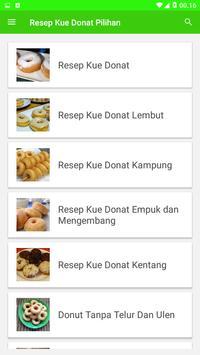Resep Kue Donat Pilihan screenshot 1