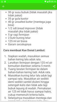 Resep Kue Donat Pilihan screenshot 2