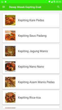 Resep Masak Kepiting Enak screenshot 1