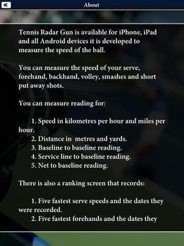 Tennis Radar Gun - Speed Check apk screenshot