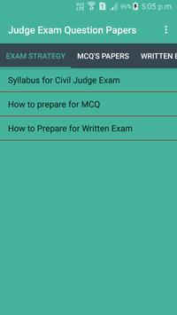 Judge Examination Question Paper poster