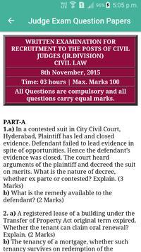 Judge Examination Question Paper screenshot 3
