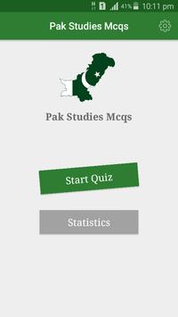 Pak Studies Affairs MCQs poster