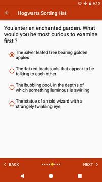 Sorting Hat, Patronus, Ilvermorny and wand quiz apk screenshot