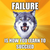 Cheer up with motivation Wolf icon