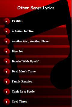 Blink 182 All Lyrics apk screenshot