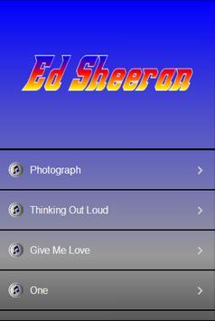 Ed Sheeran Top Lyrics poster