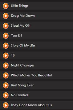 One Direction at Palbis Lyrics apk screenshot