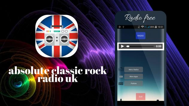 Absolute Classic Rock radio UK screenshot 7