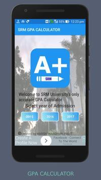 SRM University GPA Calculator poster