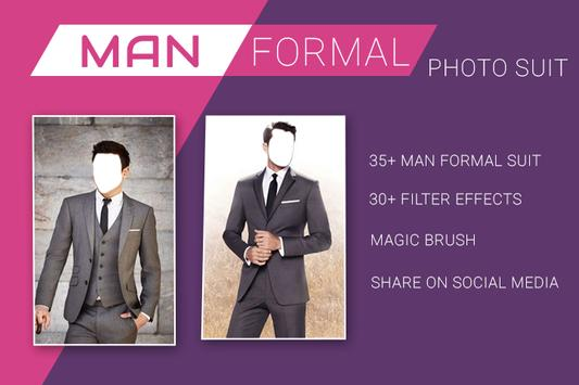 Man Formal Photo Suit Montage poster