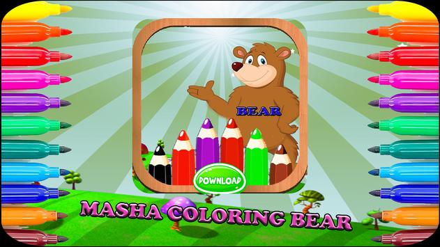 Masha Coloring Bear poster