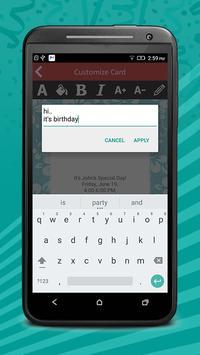 Birthday Invitation Cards Pro screenshot 3