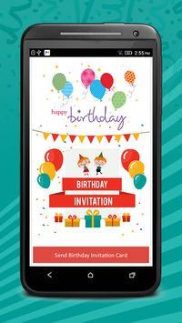 Birthday Invitation Cards Pro poster