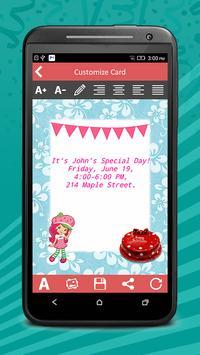 Birthday Invitation Cards Pro screenshot 5