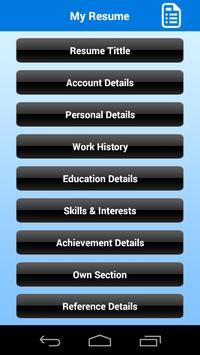 Free Resume Builder screenshot 1