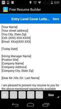Free Resume Builder screenshot 4