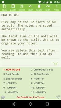 Notepad with Password apk screenshot