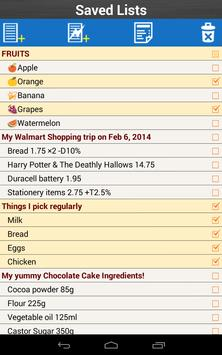Shopping List for Grocery apk screenshot