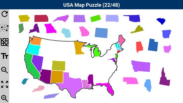 United States Map Puzzle US States And Capitals Free Software Map - Interactive us map puzzle