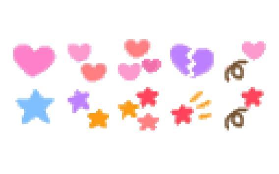 メール素材 - サインペン(ハート・きらきら) apk screenshot