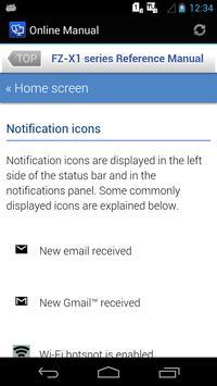 Online Manual for FZ-X1(NA) apk screenshot
