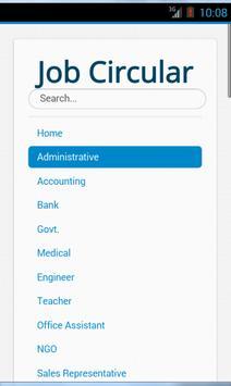 Job Circular poster