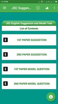 JSC Suggestion and Model Test poster