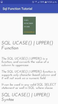 Sql Function Tutorial screenshot 1