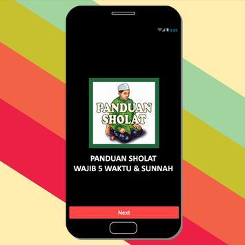 Panduan Sholat Wajib 5 Waktu & Sunnah poster