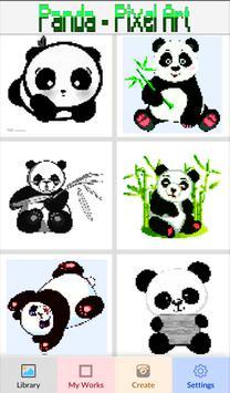 Panda Coloring: Color By Number - Pixel Art poster