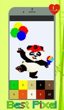 Panda Coloring: Color By Number - Pixel Art screenshot 1