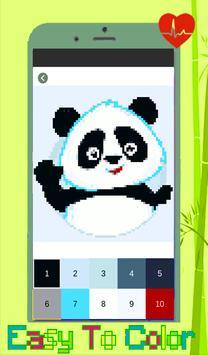 Panda Coloring: Color By Number - Pixel Art screenshot 2