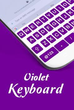 Flash Fast Violet Keyboard Theme - Input Method poster