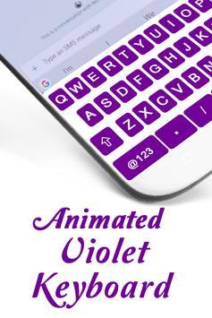 Flash Fast Violet Keyboard Theme - Input Method apk screenshot
