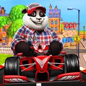 Panda racing Kids icon