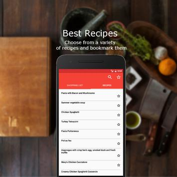 4Foodie Shopping List&Recipes apk screenshot
