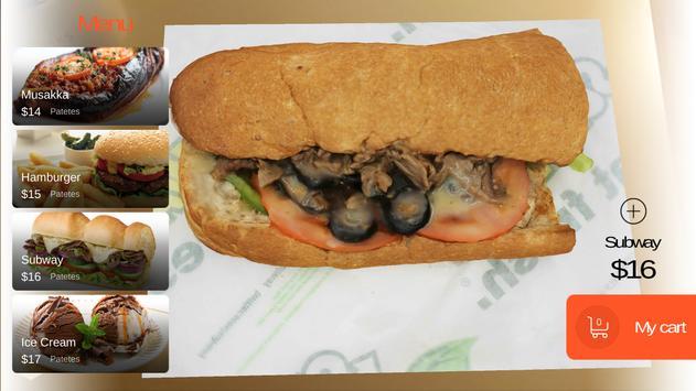 KabaQ Augmented Reality Food apk screenshot