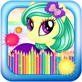 Unicorns Coloring Book icon