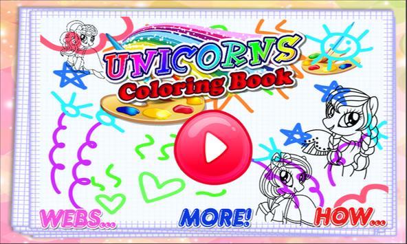 Unicorns Coloring Book screenshot 3