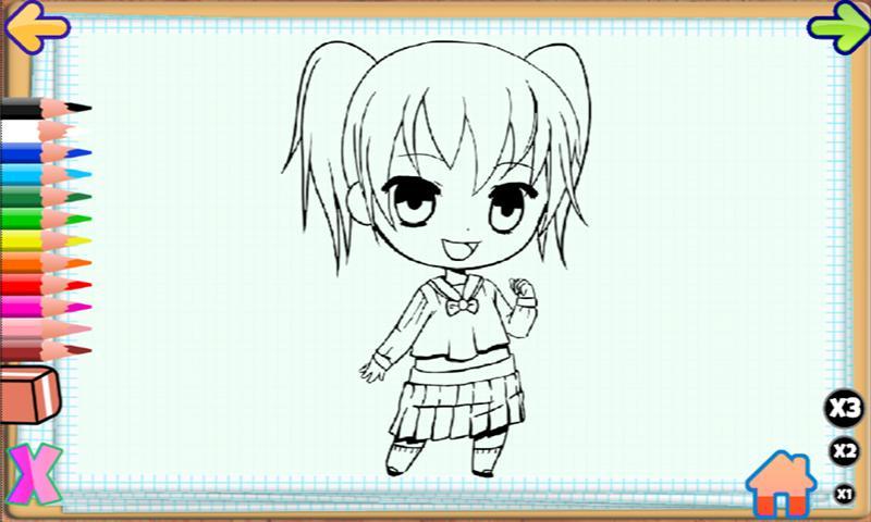 Colorindo Meninas Anime Para Android Apk Baixar