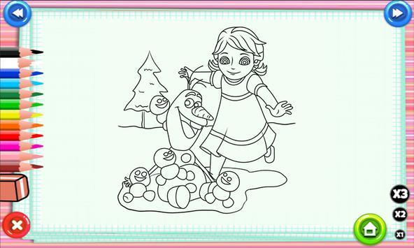 Coloring Elsa Anna Games Poster