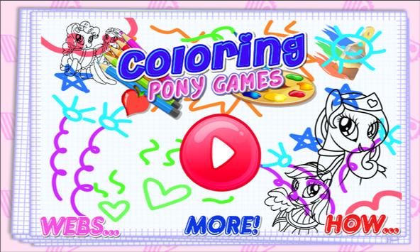 Coloring Pony Games poster