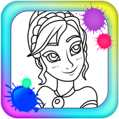 Coloring Princess Elsa For Kids icon