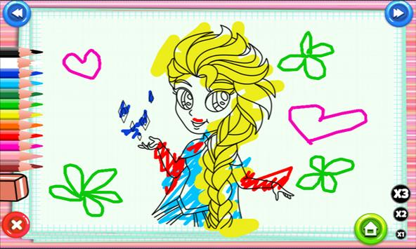 Elsa And Anna Coloring Pages poster