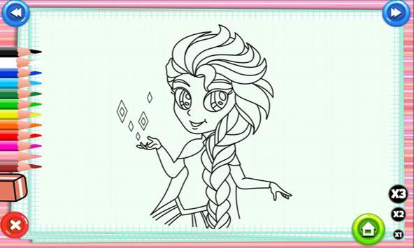 Elsa And Anna Coloring Pages apk screenshot