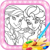 Colouring Elsa And Anna Games icon