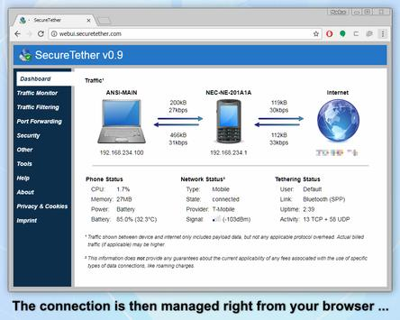 SecureTether - Secure no root Bluetooth tethering screenshot 4