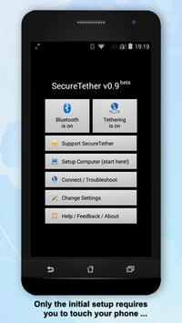 SecureTether - Free no root Bluetooth tethering poster