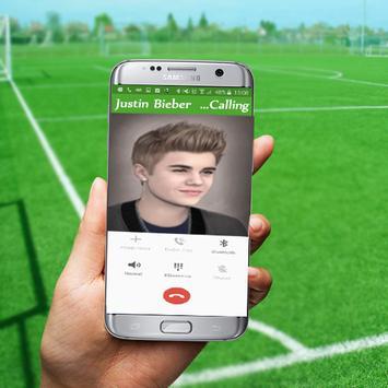 Justin Bieber Prank Calling apk screenshot